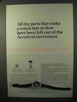 1964 Bulova Accutron Spaceview Watch Ad - All the Parts