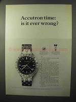 1964 Bulova Accutron Astronaut Model Watch Ad