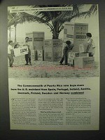 1964 Commonwealth of Puerto Rico Ad - Buys From U.S.