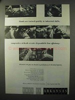 1964 Arkansas Industrial Development Commission Ad - Hands