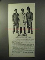 1964 Georgia Department of Industry and Trade Ad - School Boys