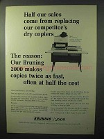 1964 Bruning 2000 Copier Ad - Replacing Competitor's