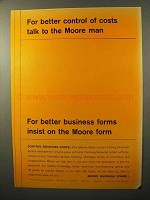 1964 Moore Business Forms Ad - Control of Costs