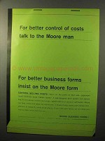 1964 Moore Business Forms Ad - Control