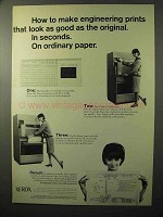 1964 Xerox Microfilm 1824 Printer Ad - Make Prints