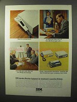 1964 IBM Executary Dictation Equipment Ad - Convenience