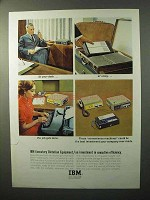 1964 IBM Executary Dictation Equipment Ad - At Desk