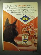 1964 Ideal Dog Food Ad - Feed Table-Quality