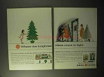1964 General Electric Christmas Lights & Floodlights Ad