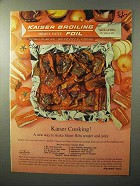 1964 Kaiser Broiling Foil Ad - Ranch Style Short Ribs