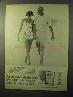 1964 SEGO Diet Food Ad - Joy of a Slender Figure