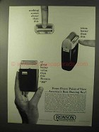 1964 Ronson 200 Shaver Ad - Nothing Closer Than This