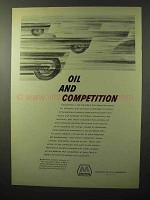 1964 Marathon Oil Ad - Oil and Competition
