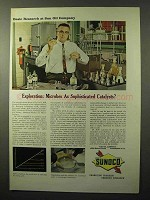 1964 Sunoco Oil Ad - Microbes Sophisticated Catalysts