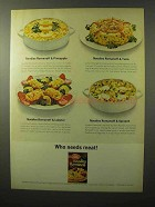 1964 Betty Crocker Noodles Romanoff Ad - Who Needs Meat