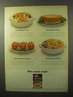 1964 Betty Crocker Rice Milanese Ad - Who Needs Meat!