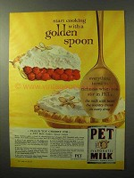 1964 Pet Evaporated Milk Ad - Cooking With Golden Spoon