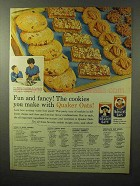1964 Quaker Oats Ad - Fun and Fancy Cookies!