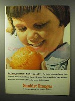 1964 Sunkist Oranges Ad - You're The First to Open It