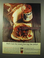 1964 Kraft Grape Jelly Ad - Kraft Buys The Bread