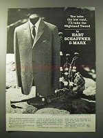 1964 Hart Schaffner & Marx Highland Tweed Ad - Low Road