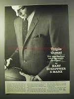 1964 Hart Schaffner & Marx Sharkeye Suit Ad - Threat