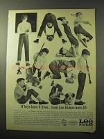 1964 Lee Riders Jeans Ad - If Boys Have 9 Lives