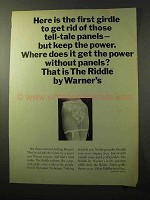 1964 Warner's The Riddle Girdle Ad - Get Rid of Panels