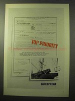 1964 Caterpillar Goer Army Truck Ad - Top Priority