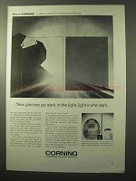 1964 Corning Photochromic Glass Ad - Dark in the Light