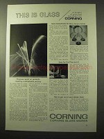 1964 Corning Corex Pipets Ad - This is Glass