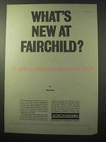 1964 Fairchild Semiconductor Ad - What's New?