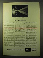 1964 Bendix Research Laboratories Ad - Fluid Phenomena