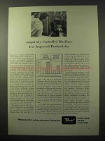 1964 Bendix Research Laboratories Ad - Adaptively