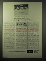1964 Bendix Research Laboratories Ad - Metal-to-Ceramic