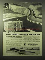 1964 The Asphalt Institute Ad - Better Than Solid Rock
