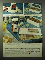1964 West Virginia Pulp and Paper Ad - Bright Packaging