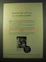 1964 Warner & Swasey Turret Lathes Ad - War on Poverty