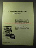 1964 Warner & Swasey Automatic Lathes Ad - Out of Work