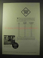 1964 Warner & Swasey Field Engineers Ad - Dead End