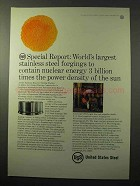 1964 United States Steel Ad - Contain Nuclear Energy