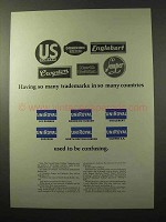 1964 U.S. Rubber Company Ad - So Many Trademarks