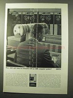 1964 Ampex Computer Tape Ad - IBM Computer System