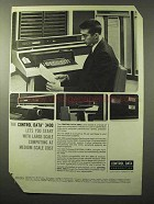 1964 Control Data 3400 Computer Ad - Large Scale