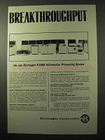 1964 Burroughs B 5500 Information Processing System Ad