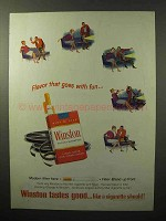 1964 Winston Cigarettes Ad - Flavor That Goes With Fun