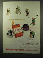 1964 Winston Cigarettes Ad - Bicycling