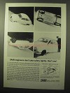 1964 Saab Car Ad - Don't Take Safety Lightly