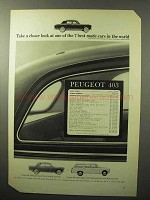 1964 Peugeot 403, 404, 404 Station Wagon Ad - A Look