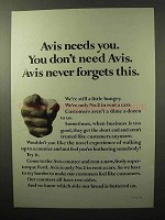 1964 Avis Rent a Car Ad - Avis Needs You